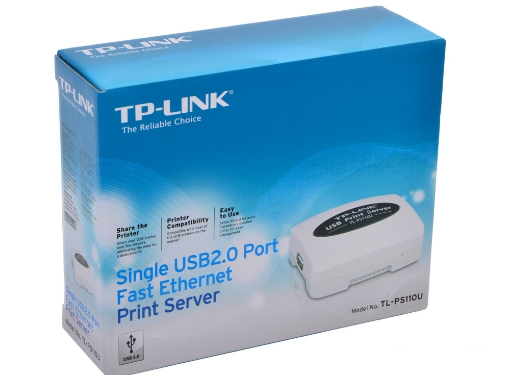 Принт-сервер TP-LINK TL-PS110U Single USB2.0 port fast ethernet print server