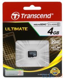 MicroSDHC Transcend  4GB Class10 (TS4GUSDC10)
