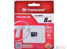 MicroSDHC Transcend  8GB Class10 (TS8GUSDC10)