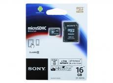microsdhc sony 16gb class10 + адаптер (sr16nyat)