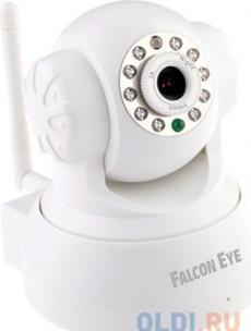 камера falcon eye fe-mtr300wt-p2p <поворотная беcпроводная камера, 0,3 мп, белая>