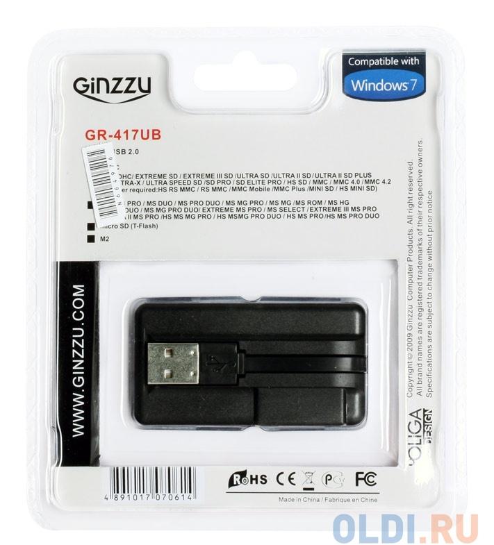 Картридер Ginzzu GR-417UB Black