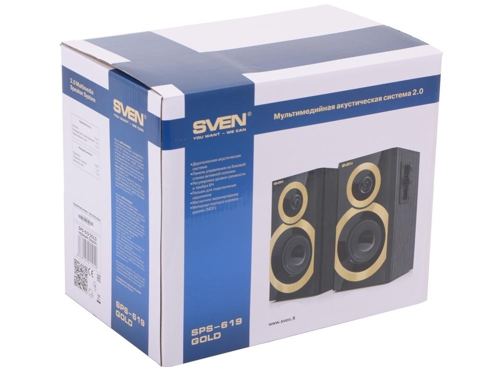 колонки sven sps-619 gold