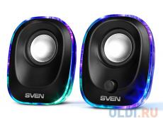Колонки Sven 330 чёрный, USB, акустическая система 2.0, мощность 2х2.5 Вт