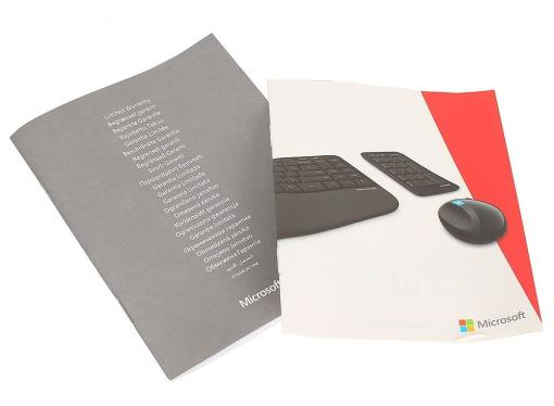 (L5V-00017) Клавиатура Microsoft , Sculpt Ergonomic Dsktp USB Port Russian Hdwr
