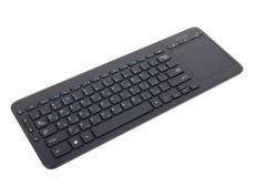 Клавиатура Microsoft All-in-One Media Keyboard черный (N9Z-00018) Беспроводная, 2.4Ghz, тонкая, Multimedia Touch