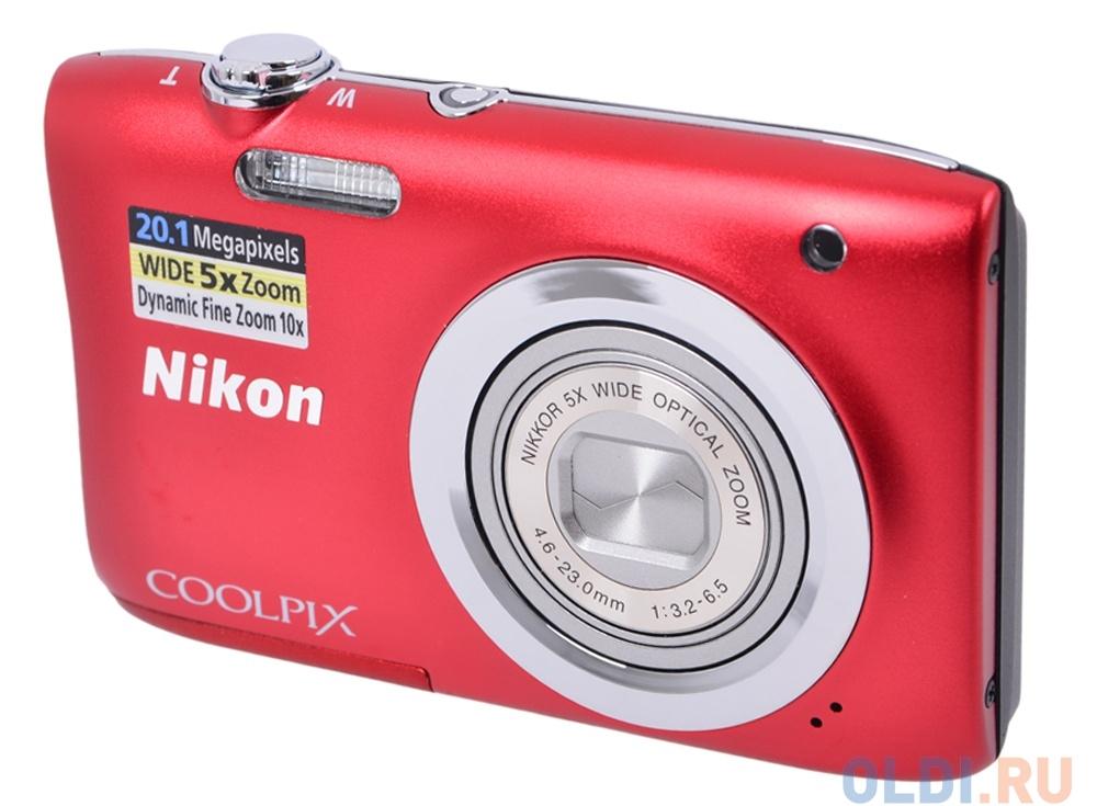 Фотоаппарат Nikon Coolpix A100 Red (20.1Mp, 5x zoom, SD, USB, 2.6