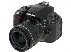Фотоаппарат Nikon D5300 Black KIT (DX 18-55 VR AF-P 24.1Mp, 3