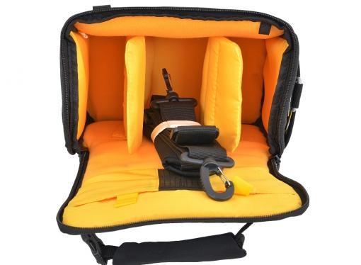 Сумка для фотоаппарата Jet.A CB-12 (36*14*22) Черный/желтый интерьер (Качественный нейлон/полиэстр)
