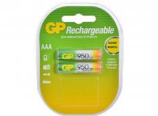 Аккумуляторы GP 2шт, AAA, 950mAh, NiMH (95AAAHC-U2)
