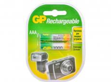 Аккумуляторы GP 2шт, AAA, 1000mAh, NiMH (100AAAHC-2CR2)