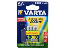 Аккумулятор Varta Mignon Accu AA 2600 mAh R2U бл2  05716101402