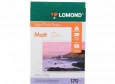 0102006 бумага LOMOND (A4, 170гр, 100л) Photo Матовая/Матовая