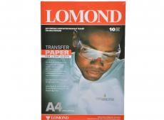 0808411 бумага LOMOND (A4, 140гр, 10л) термоперев. светлые ткани, для струйных