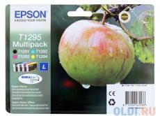 Картридж Epson Original T1295 (C13T12954010) комплект Т1291, Т1292, Т1293, Т1294 для SX420W/BX305F