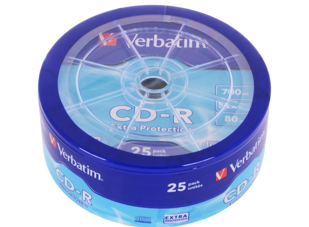 CD-R Verbatim 700Mb 52x 25шт Shrink