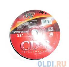 CD-R VS 700Mb 52x 10шт Shrink
