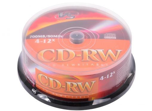 CD-RW VS 700Mb 12х 25шт CakeBox