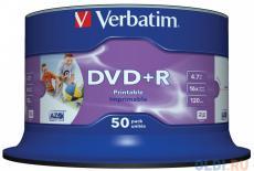 DVD+R Verbatim 4.7Gb 16x 50шт Cake Box Printable