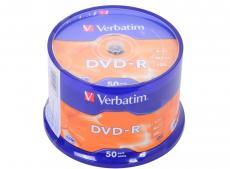 DVD-R Verbatim 4.7Gb 16х 50шт Cake Box