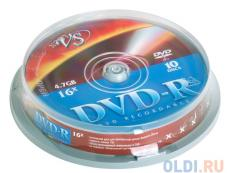 dvd-r vs 4.7gb 16х 10шт cake box