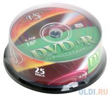 DVD+R VS 4.7Gb 16х 25шт Cake Box
