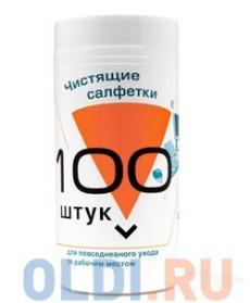 Салфетки для комп. техники в банке, 100 шт, Konoos KBU-100