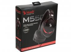 Гарнитура  A4Tech Bloody M550 Black Проводные / Полноразмерные с микрофоном / Черный / 10 Гц - 22 кГц / 103 дБ / Одностороннее / Mini-jack / 3.5 мм