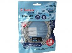 Кабель Belsis BW1411 (USB 2.0 AM/BM 1.8m 1 кольцо)