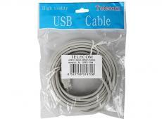 Кабель USB 2.0 AM/BM 5м Telecom