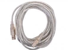 Кабель USB 2.0 AM/BM 5m Telecom прозрачная изоляция (VUS6900T-5MTP)