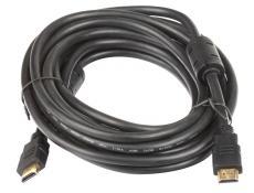 Кабель HDMI 19M/19M 5.0m ver:1.4 +3D/Ethernet AOpen [ACG511D-5M] 2 фильтра, позолоченные контакты