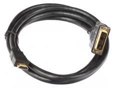 Кабель HDMI - DVI-D 19M/19M 2м Telecom с позолоченными контактами