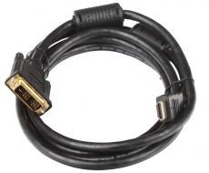 Кабель HDMI - DVI-D 19M/19M 2м Telecom 2 фильтра, с позолоченными контактами