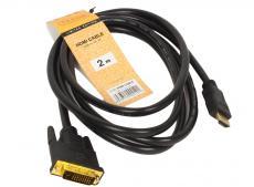 Кабель HDMI to DVI-D (19M -25M) 1.8м, TV-COM (LCG135E-1.8M)