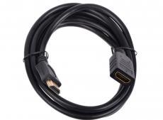 Удлинитель кабеля HDMI Cablexpert, 1.8м, v2.0, 19M/19F, черный, позол. разъемы, экран CC-HDMI4X-6