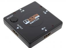 Разветвитель HDMI Switch Orient HS0301L, 3-in/1-out, HDMI 1.3b, HDTV1080p/1080i/720p, HDCP1.2, питание от HDMI, черный пл.корпус
