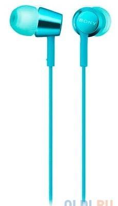 Наушники SONY EX155 вкладыши, цвет голубой