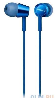 Наушники SONY EX155 вкладыши, цвет синий