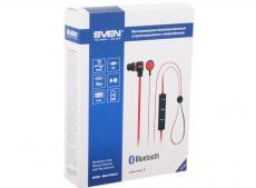 Гарнитура SVEN SEB-B270MV, черный-красные (Bluetooth) с микрофоном