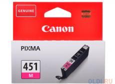 Картридж Canon CLI-451M для MG6340, MG5440, IP7240. Пурпурный. 319 страниц.