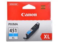 Картридж Canon CLI-451C XL для MG6340, MG5440, IP7240 . Голубой. 665 страниц.