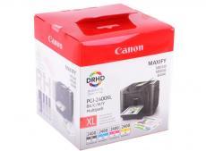 комплект картриджей canon pgi-2400xl bk/c/m/y emb multi