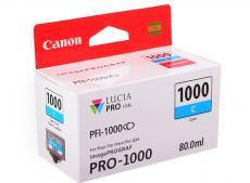 картридж canon pfi-1000 c для  ij sfp pro-1000 wfg. голубой. 80 мл.