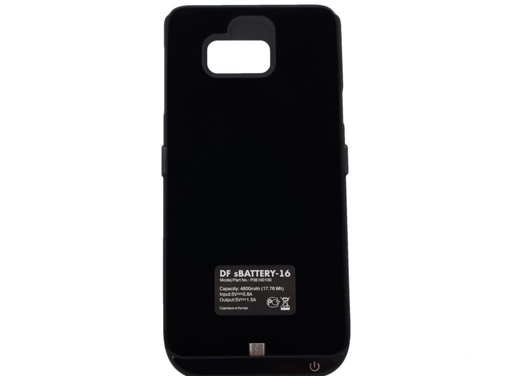 аккумулятор-чехол для samsung galaxy note 5 df sbattery-16 (black)
