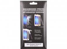 Закаленное стекло с цветной рамкой (fullscreen) для Huawei Honor 8 DF hwColor-03 (white)