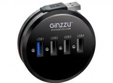 Концентратор USB 3.0/2.0 Ginzzu GR-314UB, 4 порта (1xUSB3.0+3xUSB2.0)