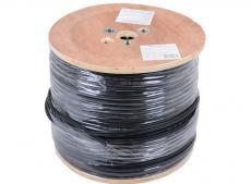 Сетевой кабель бухта 305м UTP 5e Telecom TC1000C5EN - Cu - OS- SW 4 пары, внешний, с тросом