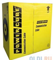 Кабель UTP Power Cube (PC-UPC-6004E-SO) кат.6 МЕДЬ однож. 4х2х0.56 мм, 305 м pullbox, серый (FLUKE TEST)
