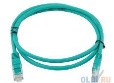 Сетевой кабель 1м UTP 5е, литой patch cord зеленый Aopen [ANP511_1M_G]